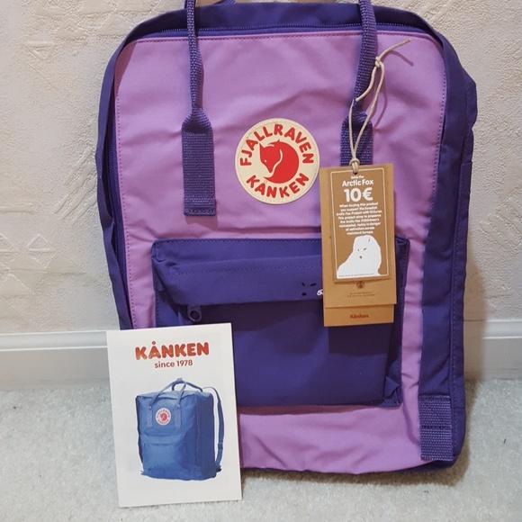 1fa767e0a Fjallraven Bags | Nwt Purple Orchid Kanken Arctic Fox | Poshmark